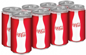 $1 off 2 Mini Can Products of the Coca-Cola Company Coupon