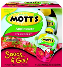 BOGO FREE Mott's Snack & Go 4-Pack Applesauce Coupon
