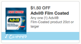 $1.50 off Advil Film-Coated product 20ct or larger