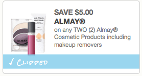 $5.00 off any two Almay Cosmetic Products