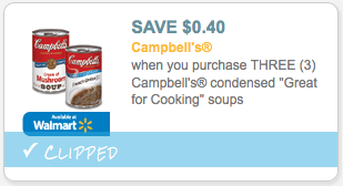 "$0.40/3 Campbell's Condensed ""Great for Cooking"" Soup"