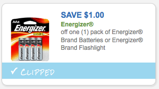 $1.00 Energizer Battery coupon