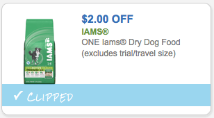 Save $2.00 on Iams Dog Food