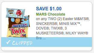 $1.00 off any 2 bags of Mars Easter chocolates