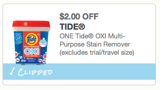 $2.00 off Tide OXI Multi-Purpose Stain Remover