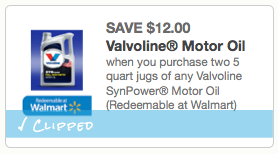 $12.00 off any Valvoline SynPower Motor Oil