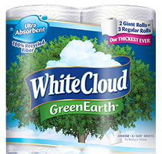 High Value $2 off White Cloud GreenEarth Bathroom Tissue Coupon