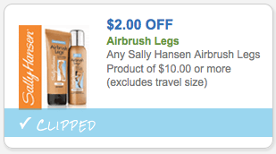 $2.00 off Airbrush Legs by Sally Hanson