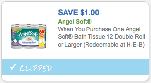 $1.00 off Angel Soft Bath Tissue