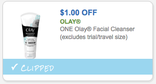 Save $1.00 off Olay Facial Cleanser