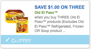 Save $1.00 on THREE Old El Paso Products