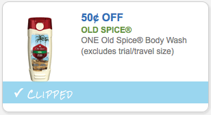 $.50 Off Old Spice Body Wash