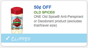 $.50 off Old Spice Deodorant