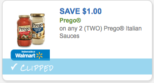 Save $1.00 on Prego Italian Sauces