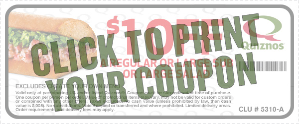 Save On Quizno's With This Coupon