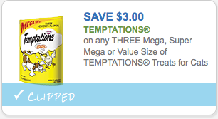Save $3.00 on Temptations Treats for Cats